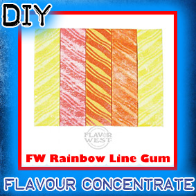 FW-Rainbow-line-gum Flavor West Flavour Concentrate