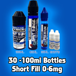 30-100ml short fill eliquids