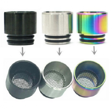 810 antispit gauzed stainless steel drip tip