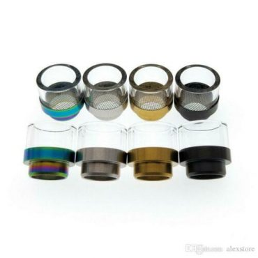 810 antispit Pyrex & gauzed stainless steel drip tip