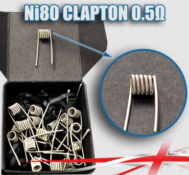 0.5 ohm Ni80-Clapton-Coils bulk buy