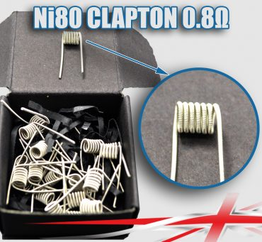 0.8 ohm Ni80-Clapton-Coils bulk buy