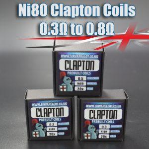 Ni80-Clapton-Coils bulk buy 0.3 - 0.5 ohm