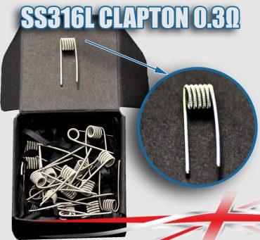 0.3 SS316L-Clapton-coils-bulk-packs