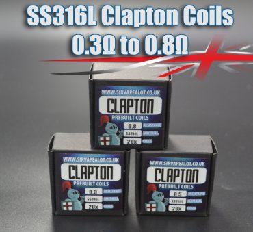 SS316L-Clapton-Coils 0.3 -0.8 ohm Bulk Buy